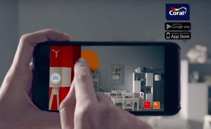 Tintas Coral: aplicativo para simular as cores em ambientes