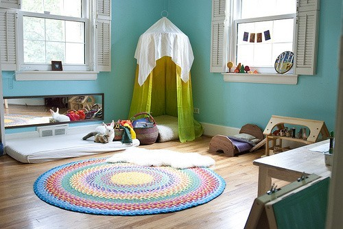 Decoração montessoriana para o quarto das crianças