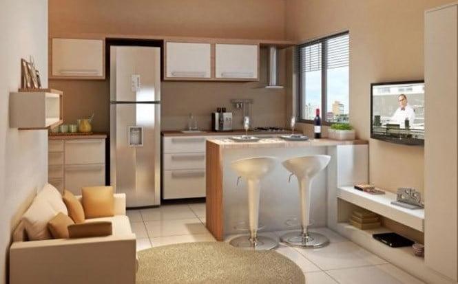 Cozinha Planejada Americana Pequena – Dica para Apartamento